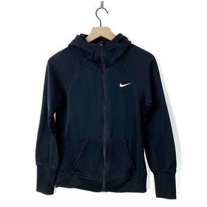 Nike Thermafit Black Zip Up Hooded Sweatshirt L